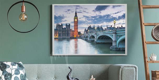 Plakát Londýn při západu slunce