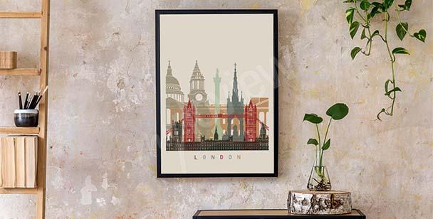 Plakát Londýn skyline