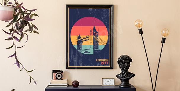 Plakát Londýn v retro stylu