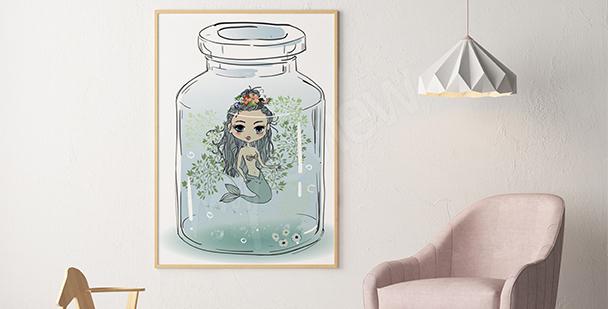 Plakát malá mořská víla