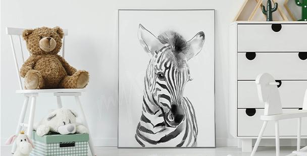 Plakát malá zebra