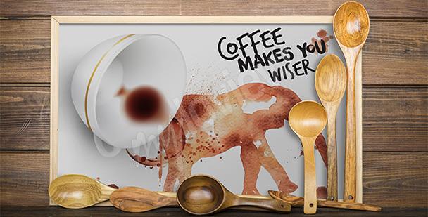 Plakát malování kávou
