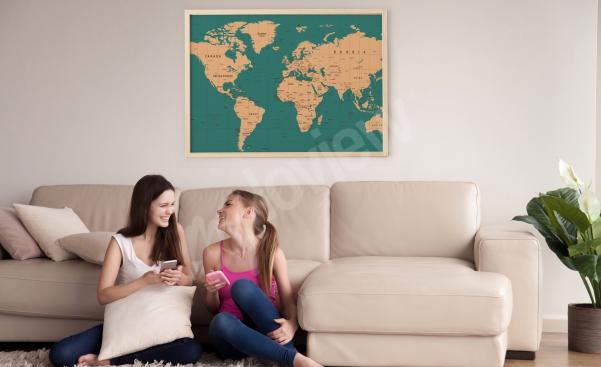 Plakát mapa do obývacího pokoje
