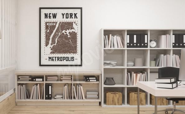 Plakát mapa New Yorku