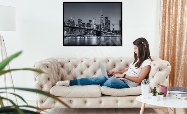 Plakát město do obývacího pokoje