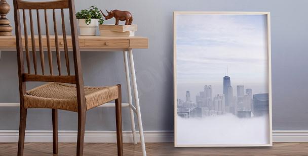 Plakát město v mlze