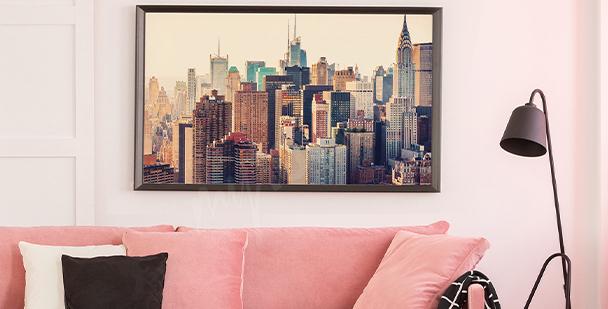 Plakát město z ptačího pohledu