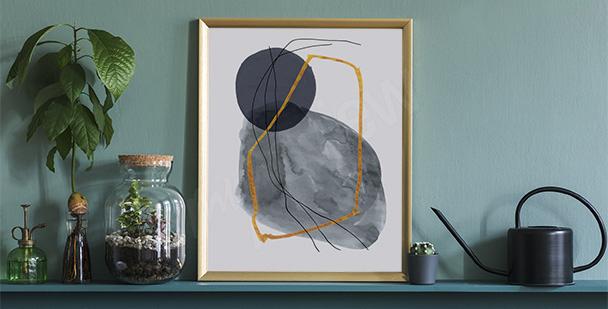 Plakát minimalismus do předsíně