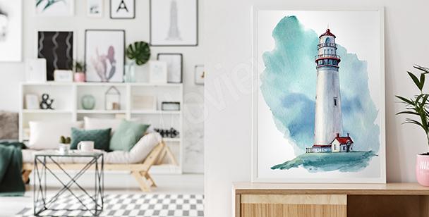Plakát moře v akvarelu