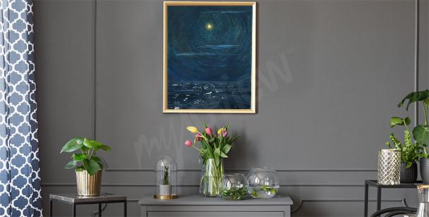 Plakát moře v noci