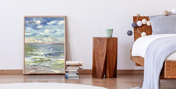 Plakát mořská krajina
