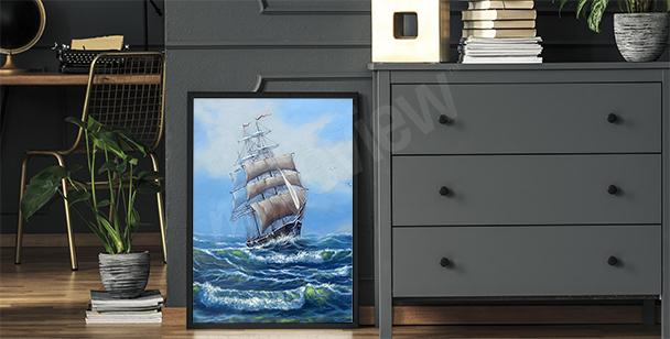 Plakát mořská plavba