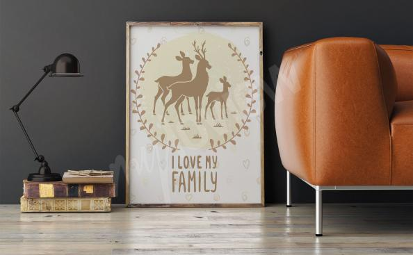 Plakát na zeď do obývacího pokoje