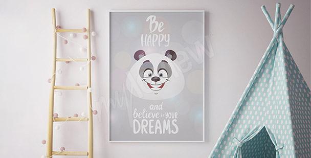 Plakát panda pro děti