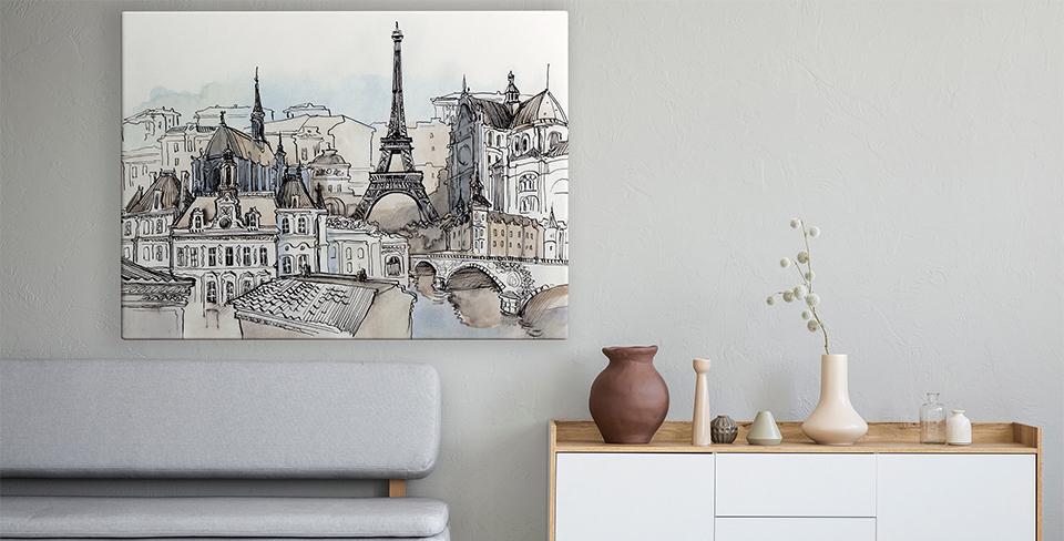 Plakát panorama Paříže