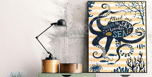 Plakát mořská sasanka
