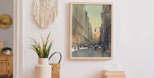 Plakát pohled na ulice
