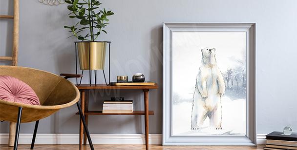 Plakát polární medvěd