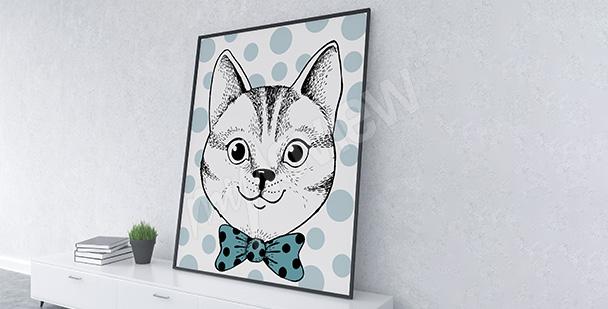 Plakát portrét kočky