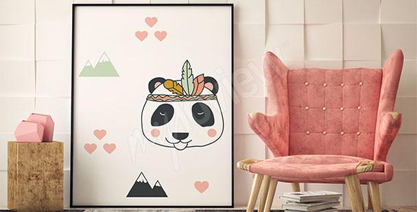 Plakát pro děti panda