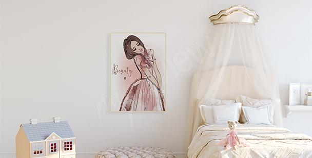 Plakát pro holčičky s princeznou