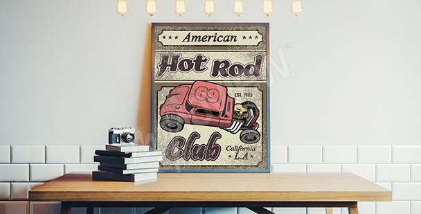 Plakát retro automobil