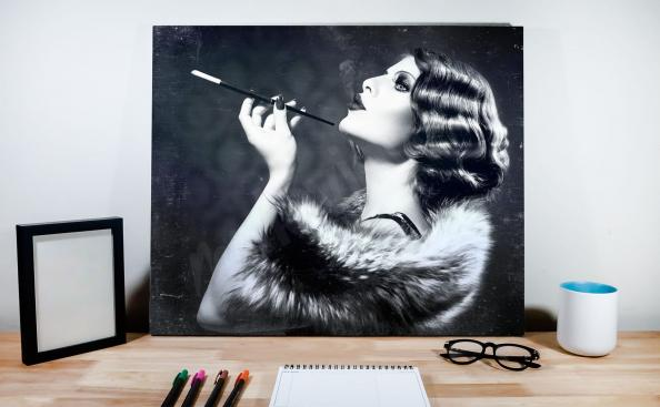 plakát retro žena