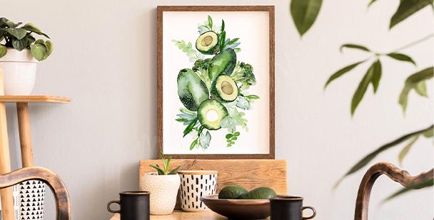 Plakát rostlinná kompozice