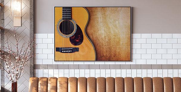 Plakát s akustickou kytarou