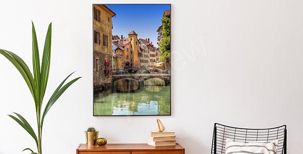Plakát s barevným městem