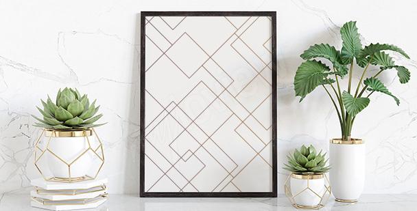 Plakát s geometrickým vzorem