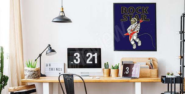 Plakát s rockovým motivem