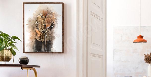 Plakát s saxofonistou