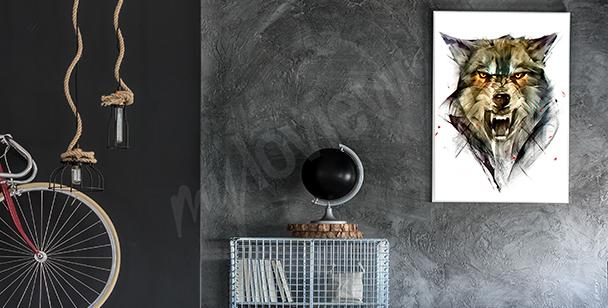 Plakát s vlkem do předsíně