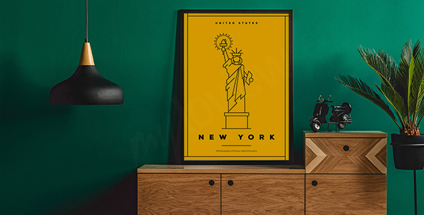 Plakát se symbolem New Yorku