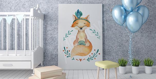 Plakát skandinávská liška