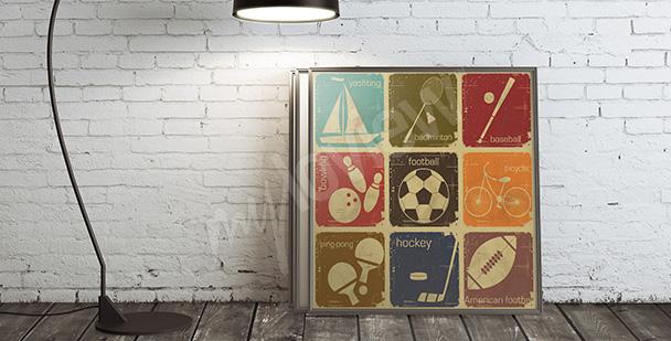 Plakát sportovní disciplíny