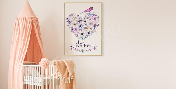 Plakát srdce z květin