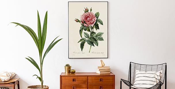 Plakát styl floral
