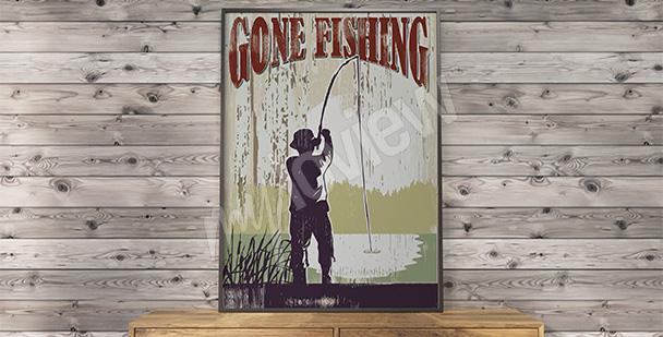 Plakát vintage rybářství