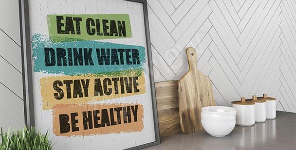 Plakát zdravý životní styl