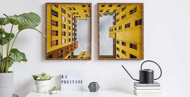 Plakát žlutý dům v Berlíně