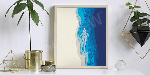 Plakát moře - akvarel