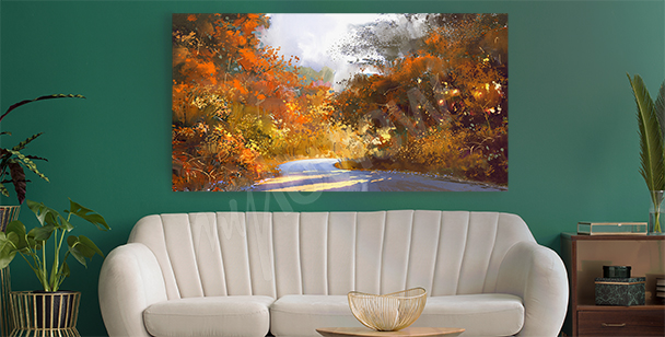 Podzimní obraz s krajinou