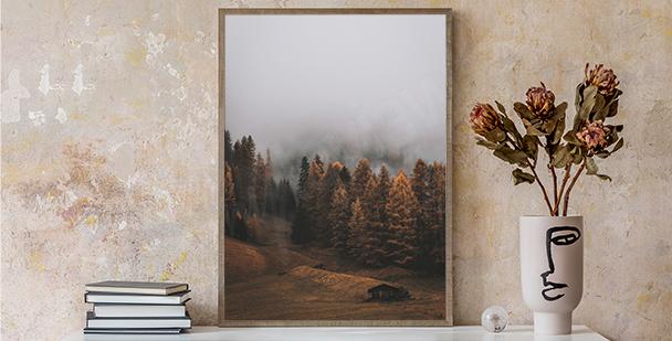 Podzimní plakát příroda