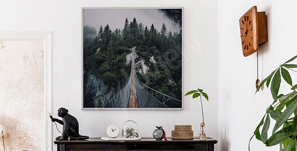 Prostorový plakát s mostem