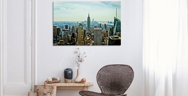 Realistický obraz – město New York