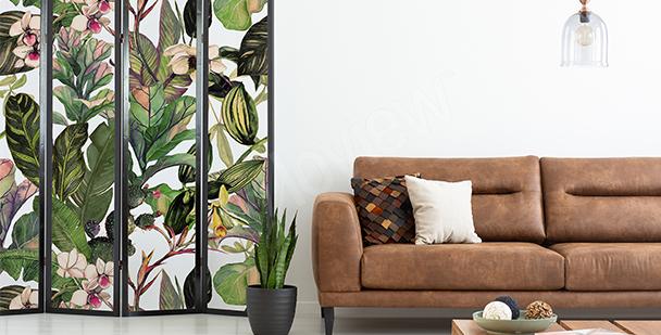 Rostlinná nálepka do obývacího pokoje