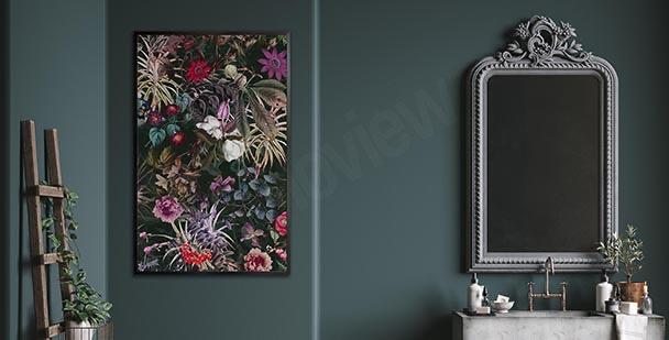 Rostlinný plakát do koupelny
