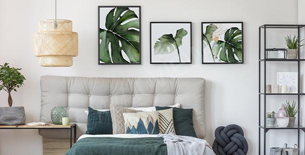 Rostlinný plakát do ložnice